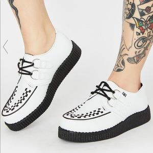 T.U.K. Unisex White Leather Creeper Sneaker